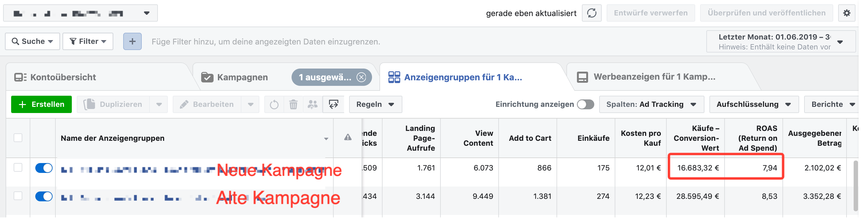 Facebook Kampagne Budget Erhöhung